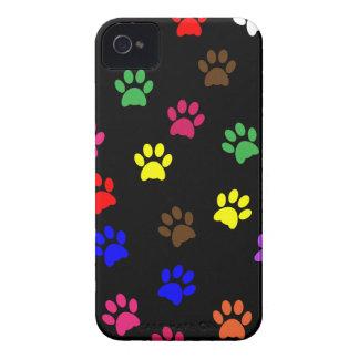 La caja colorida del iphone 4 del perro de la impr iPhone 4 Case-Mate cárcasa