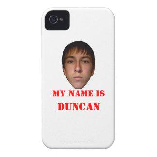La caja de Blackberry, mi nombre es Duncan iPhone 4 Protector