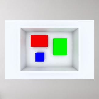 La caja de color posters
