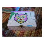 La caja de gato esencial tarjeta postal