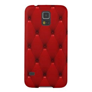 La caja de la galaxia S5 de Samsung, rojo rellenó  Funda Para Galaxy S5
