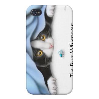 La caja de la mota del gato del gatito del iPhone 4 carcasa