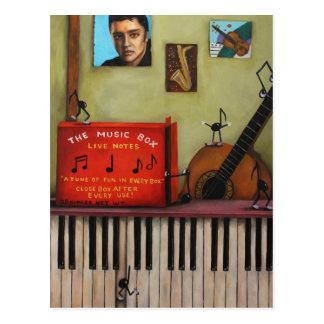 La caja de música tarjeta postal