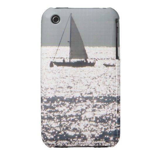 La caja de plata de la casamata del mar funda para iPhone 3 de Case-Mate