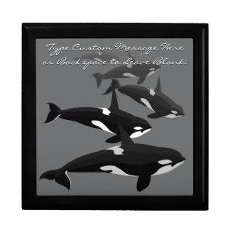 La caja de regalo de la orca personaliza el joyero