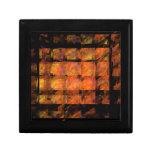 La caja de regalo del arte abstracto de la pared