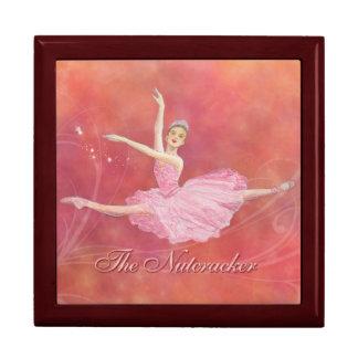 La caja de regalo del ballet del cascanueces joyero cuadrado grande