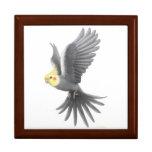 La caja de regalo del Cockatiel del mascota del vu Joyero Cuadrado Grande