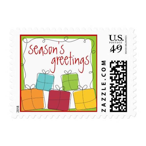 La caja de regalo retra presenta el sello del día
