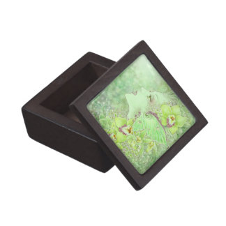 La caja de regalo superior del Faery verde Cajas De Recuerdo De Calidad