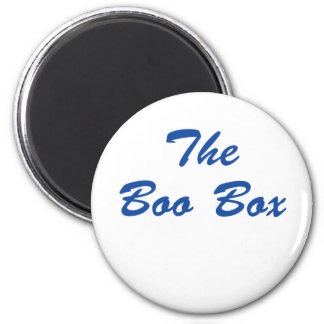 ¡La caja del abucheo!!! Imán Redondo 5 Cm