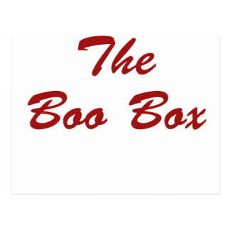 La caja del abucheo tarjeta postal