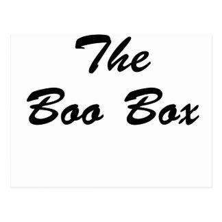 La caja del abucheo tarjetas postales