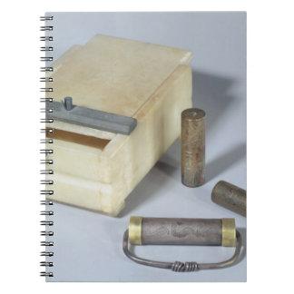 La caja del alabastro y el bronce y la plata sella libros de apuntes