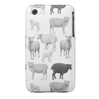 La caja del iPhone 3 de las ovejas negras Funda Para iPhone 3