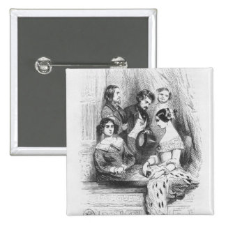 La caja del teatro de primeros ministros Gentilhom Pin Cuadrada 5 Cm