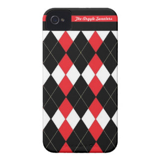 La caja del teléfono de los suéteres de Argyle Case-Mate iPhone 4 Cobertura