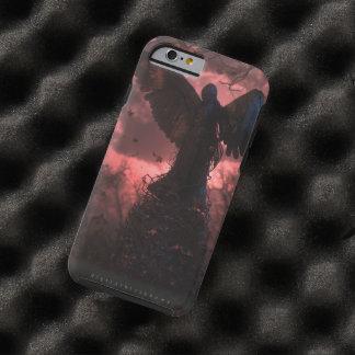 La caja dura del ángel negro (caso del iPhone 6) Funda De iPhone 6 Tough
