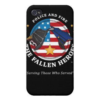 La caja Héroe-negra caida iPhone4 iPhone 4/4S Funda