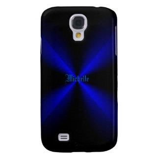La caja negra y azul de Michelle de Samsung de la Funda Para Galaxy S4