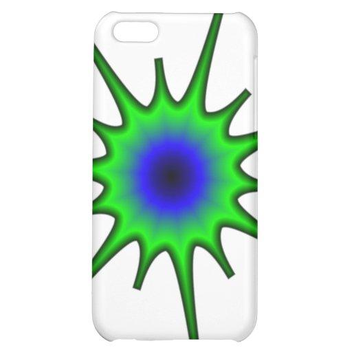 La caja verde y azul del iPhone 4 del chapoteo