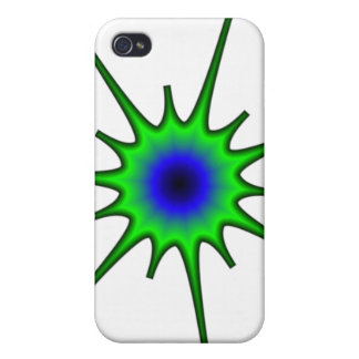 La caja verde y azul del iPhone 4 del chapoteo iPhone 4 Cárcasa
