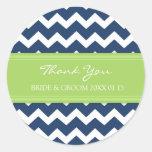 La cal azul Chevron le agradece las etiquetas del Pegatina Redonda