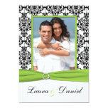 La cal, blanco, boda negro de la foto del damasco anuncios personalizados