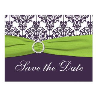 La cal y el damasco púrpura ahorran la postal de l