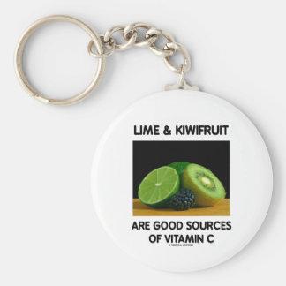La cal y el kiwi son buenas fuentes de vitamina C Llavero Redondo Tipo Pin
