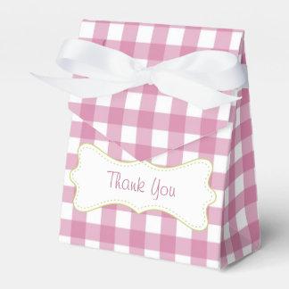La cal y la guinga rosada le agradecen caja para regalo de boda