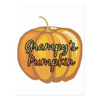 La calabaza de Grampy Tarjetas Postales