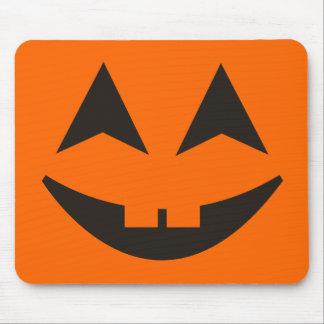 La calabaza de Halloween hace frente a Mousepad 1 Tapete De Ratones