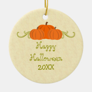 La calabaza remolina ornamento de Halloween Adorno Navideño Redondo De Cerámica