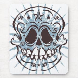 La Calavera 4 - Blue Colorway Mouse Pad