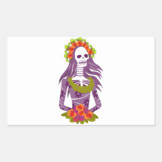 La Calavera Catrina/Dapper Skeleton/'Elegant Skull Rectangular Sticker