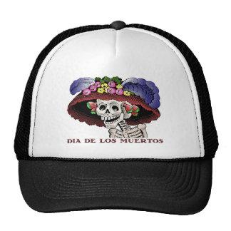La Calavera Catrina in color Trucker Hat