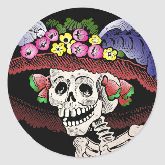 La Calavera Catrina [stickers] Classic Round Sticker