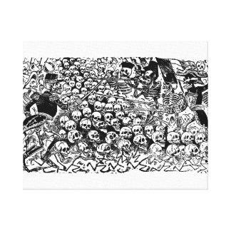 La Calavera Revuelta by José Guadalupe Posada Canvas Print