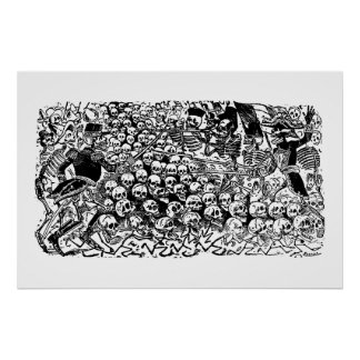 La Calavera Revuelta de José Guadalupe Posada Poster