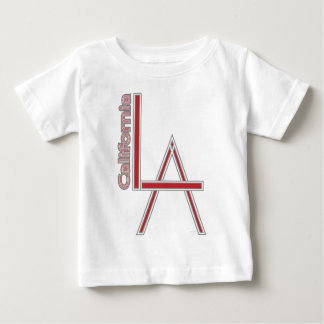 LA California grey red logo design Baby T-Shirt