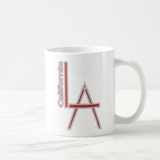 LA California grey red logo design Coffee Mug