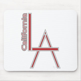LA California grey red logo design Mouse Pad