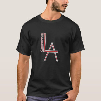 LA California grey red logo design T-Shirt