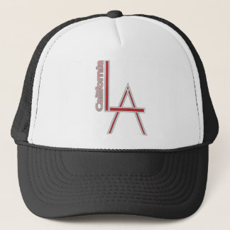 LA California grey red logo design Trucker Hat