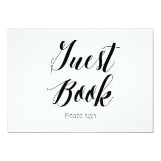 """La caligrafía """"libro de visitas canta por favor"""" invitación 5"""" x 7"""""""