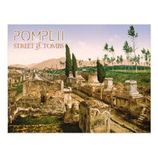 La calle de tumbas, Pompeya, Italia Postal