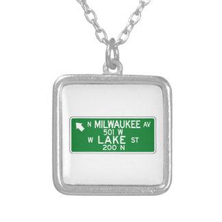 La calle del Avenida-Lago de Milwaukee, Chicago, I Pendientes Personalizados