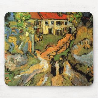 La calle del pueblo de Van Gogh, pasos, Auvers w 2 Tapete De Ratón