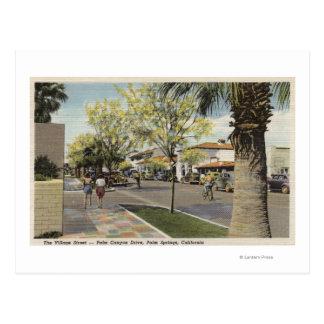 La calle del pueblo, impulsión del barranco de la postal
